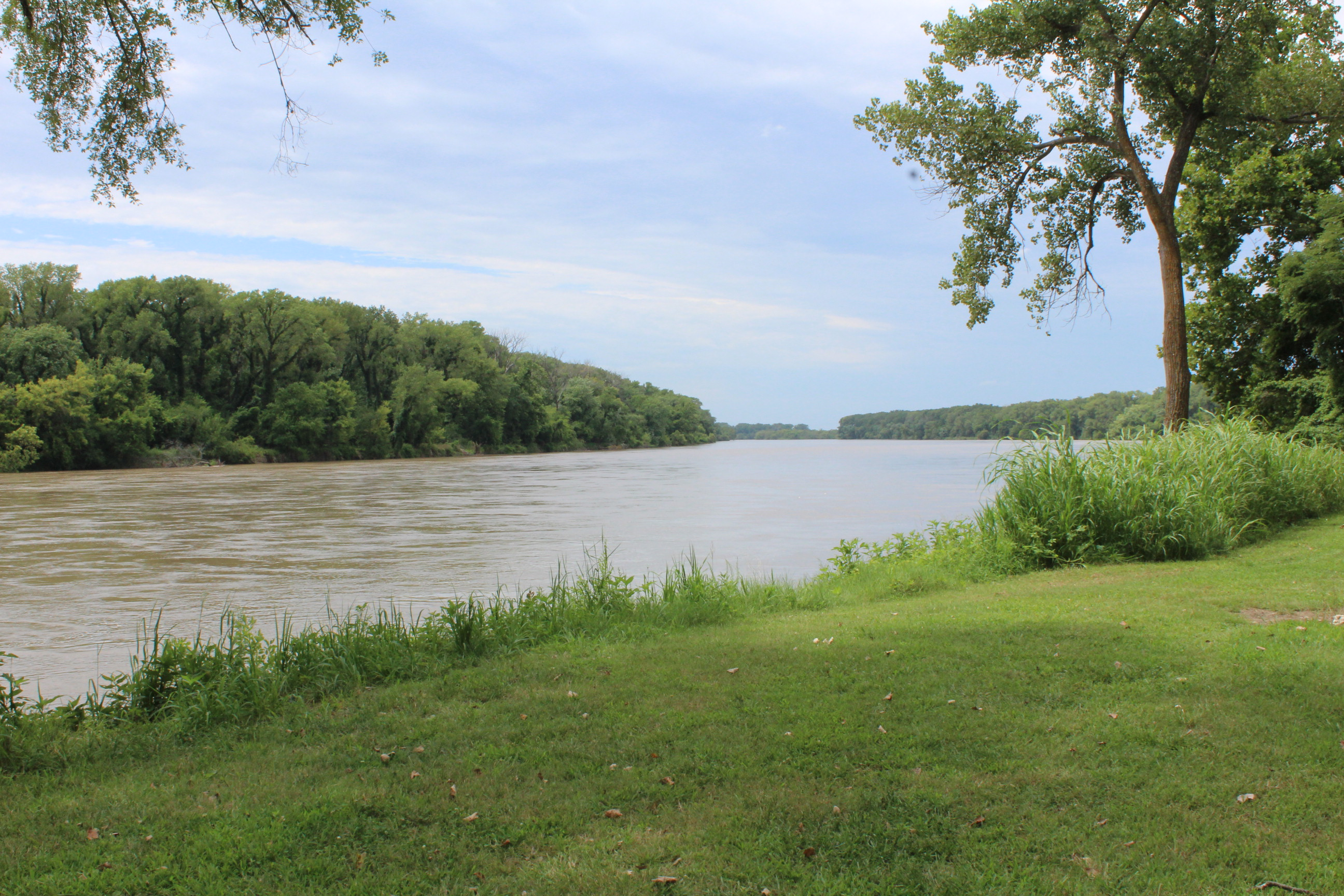 The Kansas River, as seen from Riverfront Park in North Lawrence. (Photo by J. Schafer)