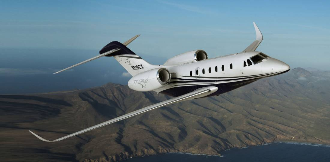 Textron's Cessna Citation X+ is the fastest private jet in the world. (Photo from Textron Aviation)