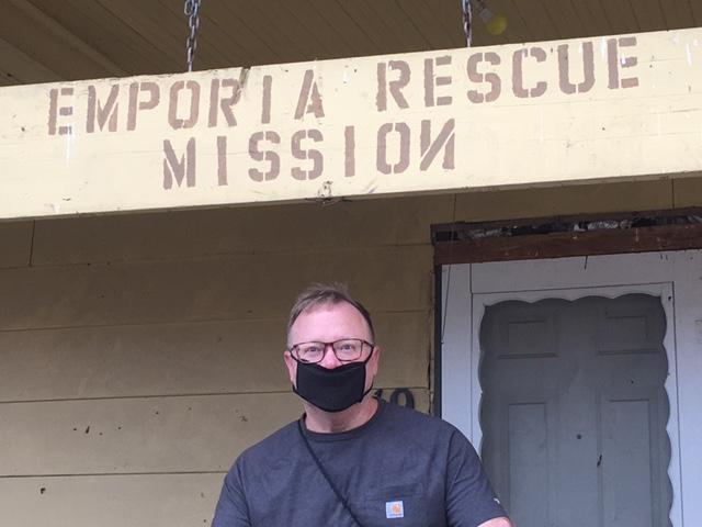 Executive Director Lee Alderman of the Emporia Rescue Mission
