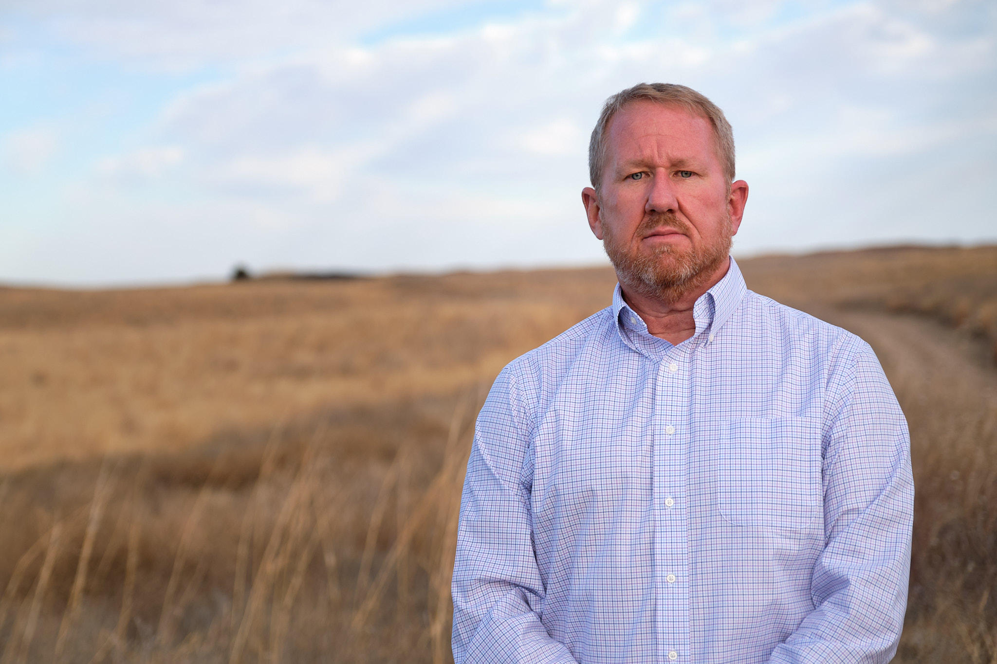 Hays City Manager Toby Dougherty at the R9 Ranch in Edwards County, Kansas. (Photo by Brian Grimmett, Kansas News Service)