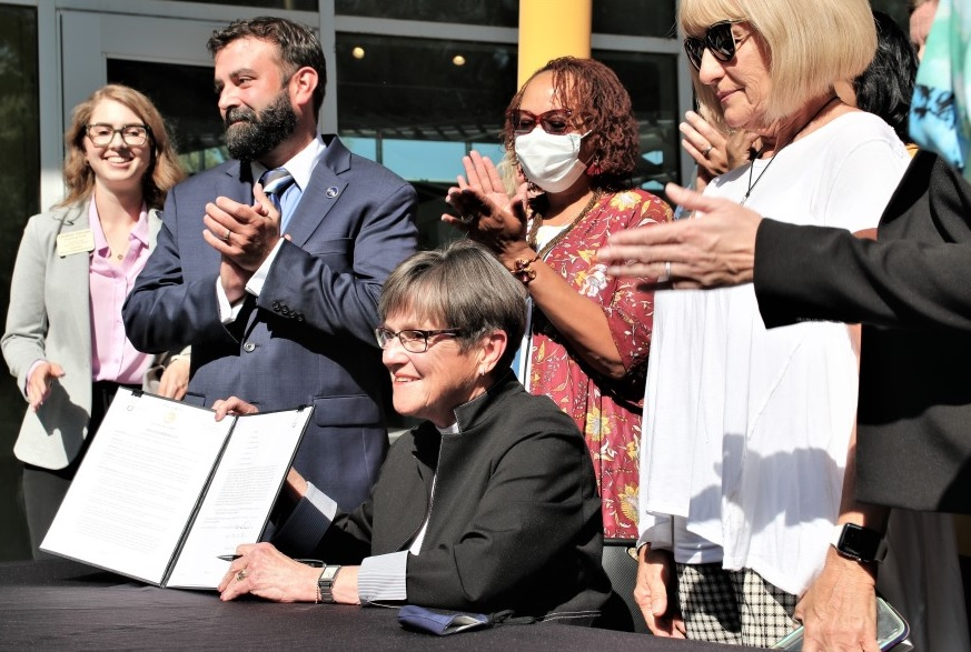 Governor Laura Kelly established the Division of the Child Advocate after the Legislature struggled to do so. (Photo by Jim McLean, Kansas News Service)