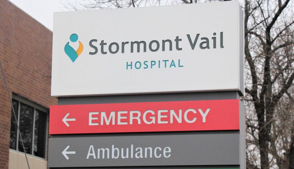 Stormont Vail Hospital & Trauma Center in Topeka. (Photo by Celia Llopis-Jepsen / Kansas News Service.)