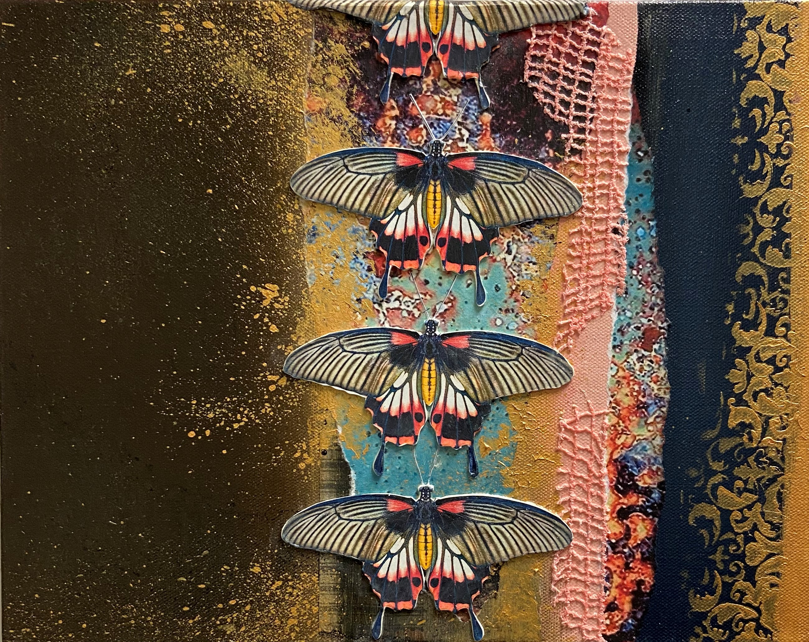 Flying Colors - $225 - mixed media