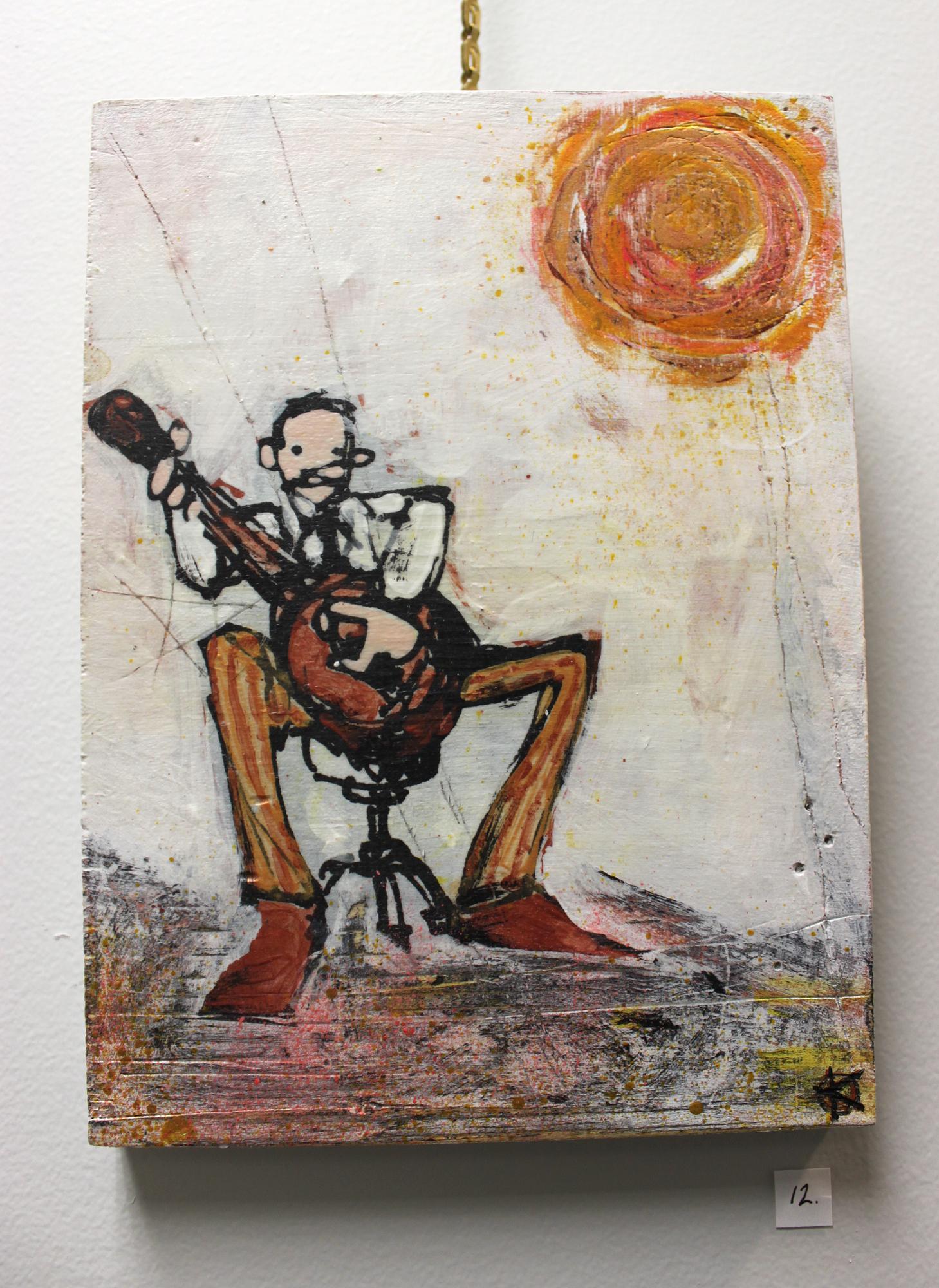 Sun Song, Acrylic on Wood Panel, 2014 - Kent Smith, $150