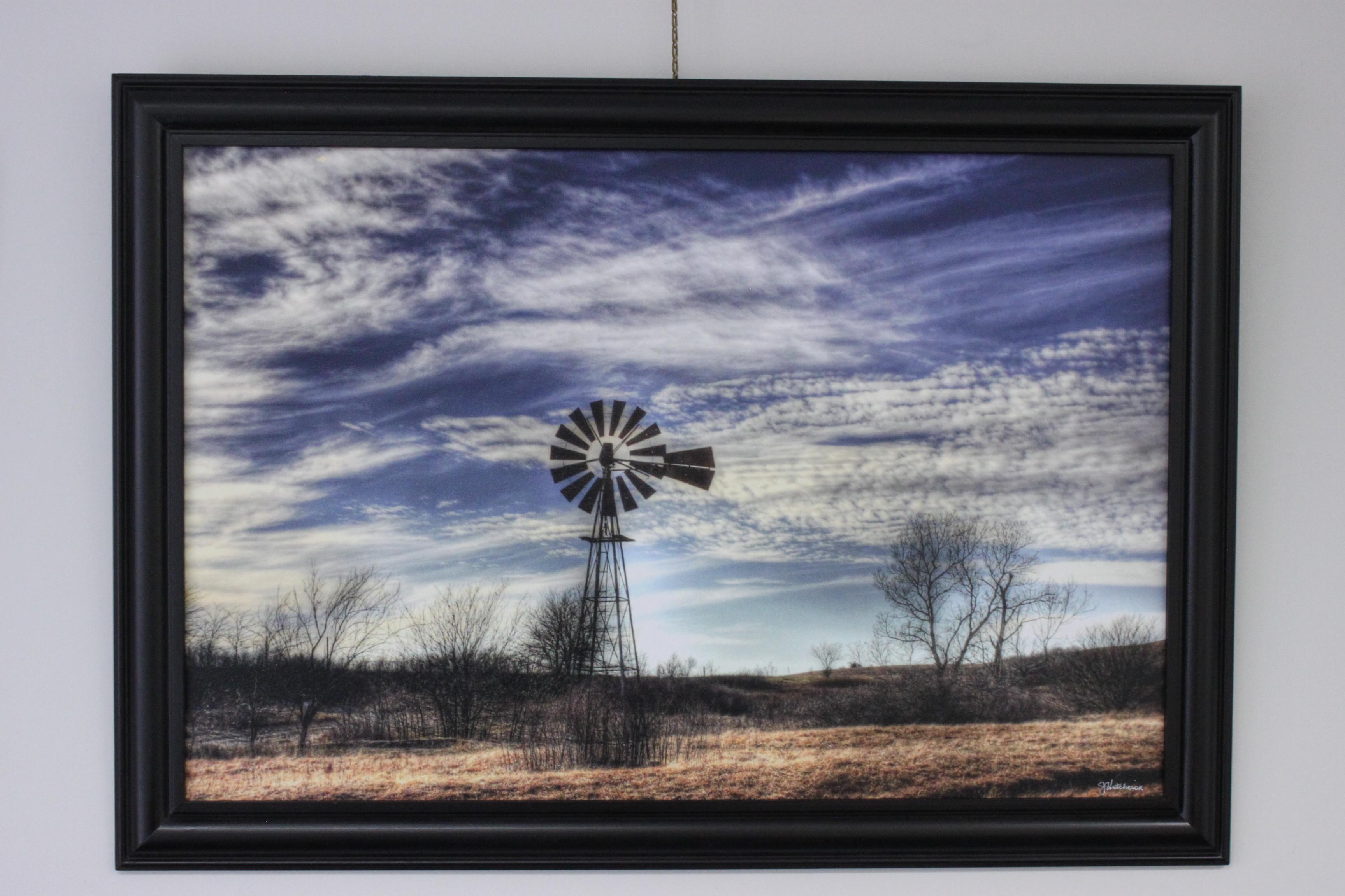 Windmill in the Flint Hills, Wabaunsee County, KS