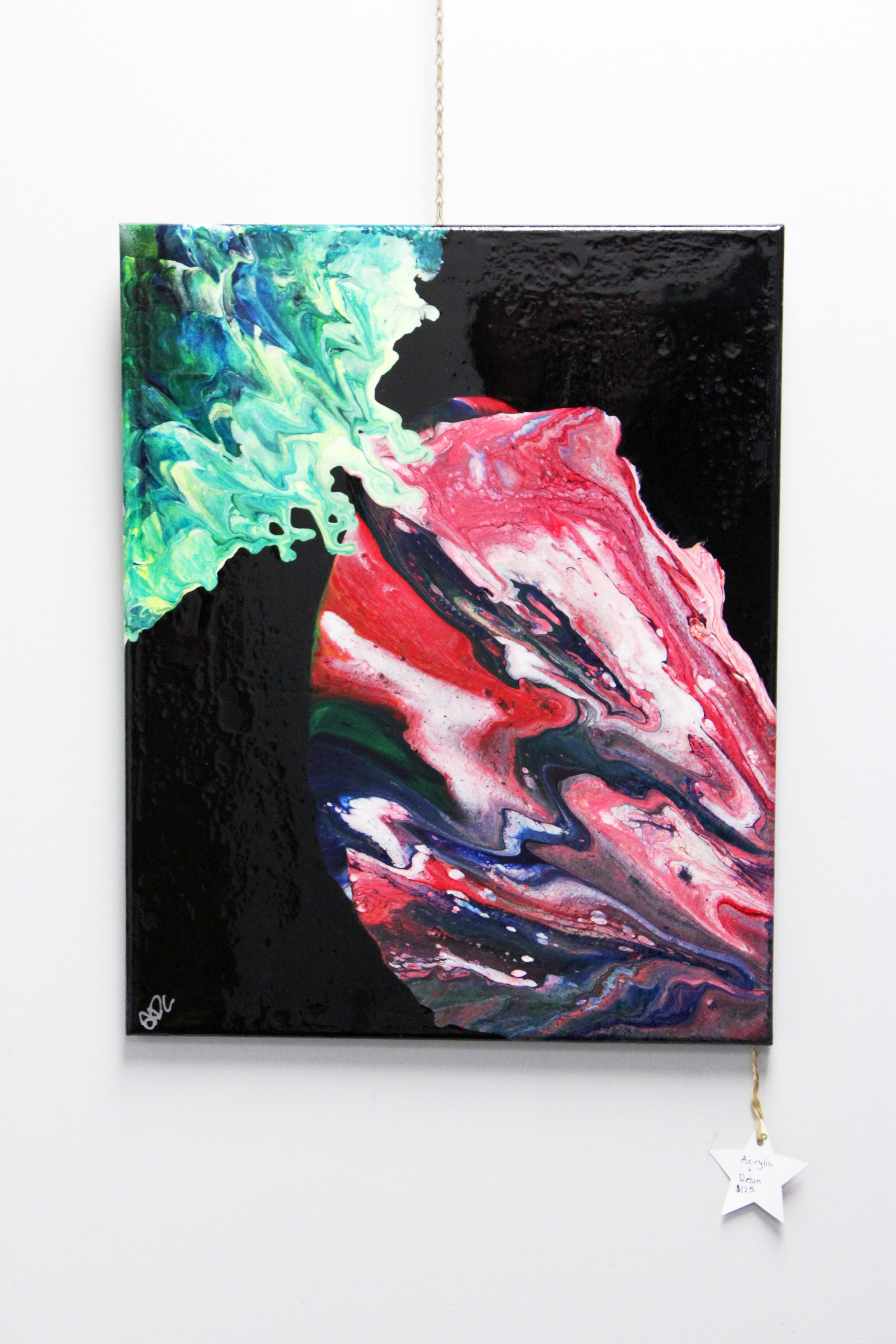 Acrylic & resin painting by Alisha Colgan