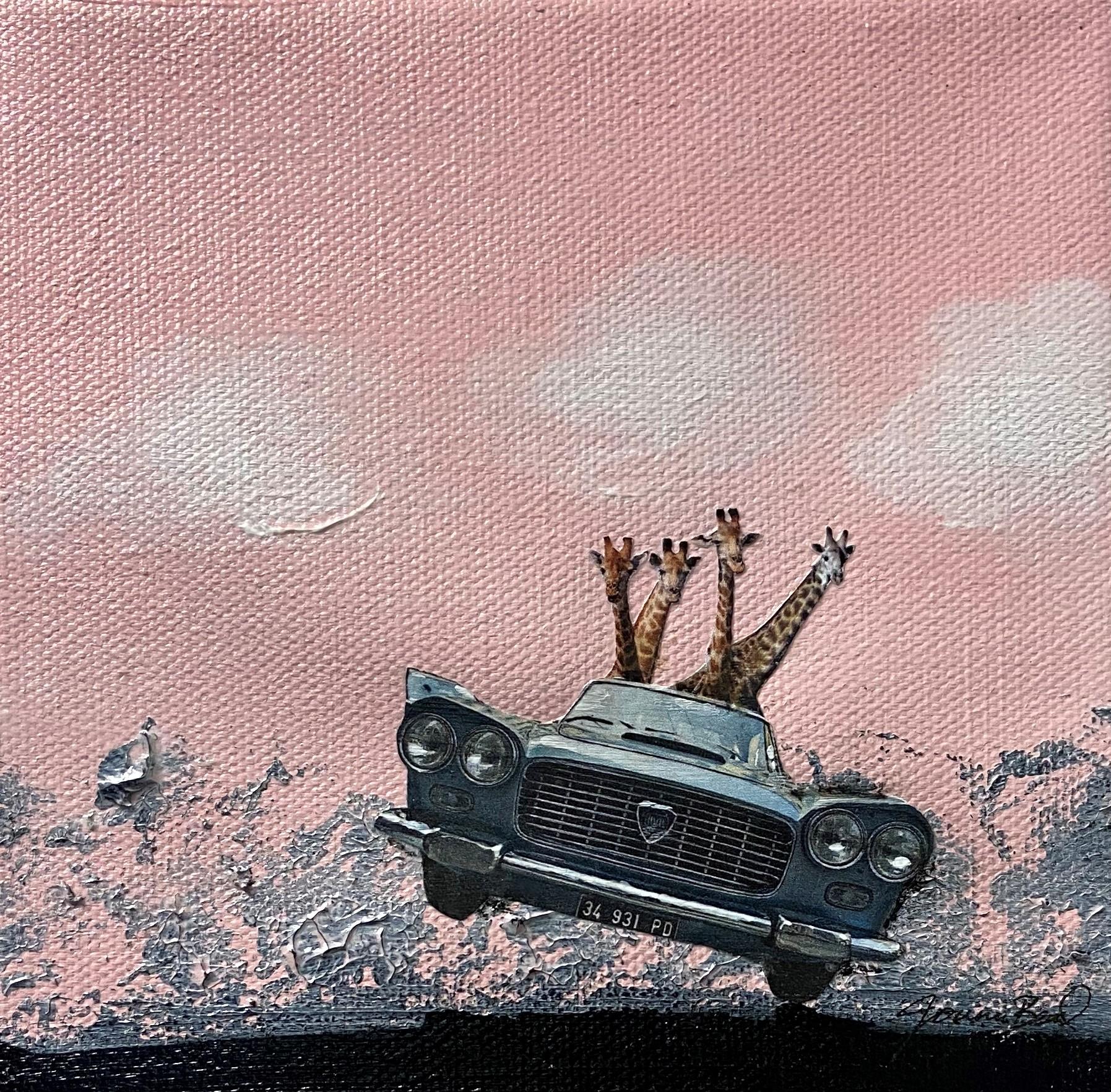 Joy Ride - $75 - mixed media