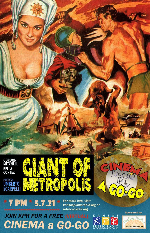 "Cinema a Go-Go ""The Giant of Metropolis"" poster"