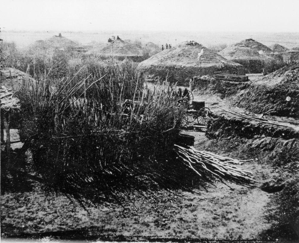 A Pawnee village (Photo from Kansas Historical Society)