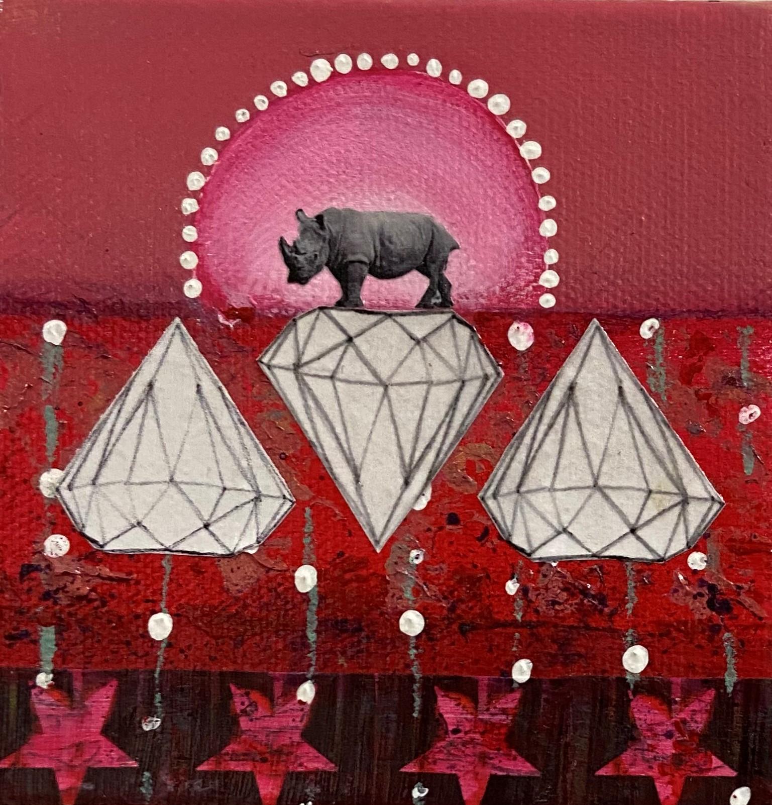 Rhino Might! - $55 - mixed media
