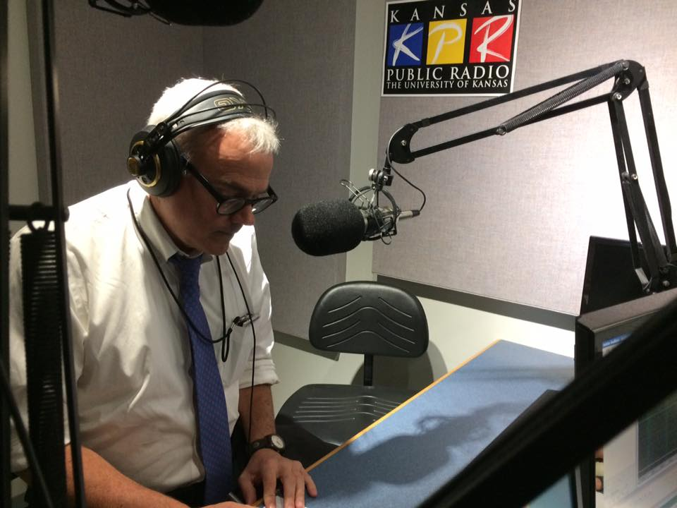 NPR White House Correspondent Scott Horsley was traveling to Lawrence for an event at the Dole Institute of Politics, and he stopped by KPR to record a pledge break and enjoy lunch with donors and KPR staff.