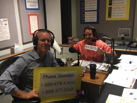 "News Director J. Schafer loves ""pitching"" with former Kansas lawmaker Paul Davis."