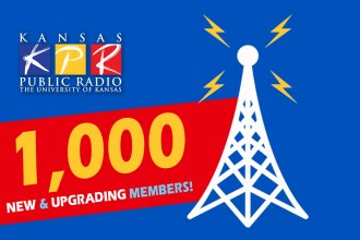 """We're looking for 1,000 new and upgrading donors during the """"Campaign for Excellence."""" You can do your part today - donate online at kpr.ku.edu/support or call 888-577-5268...and thanks!"""