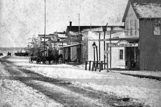 A view of a street in Chanute, Kan., taken between 1880 and 1899, shortly after its inception as a town. (Photo Courtesy of Kansas Historical Society / kansasmemory.org)