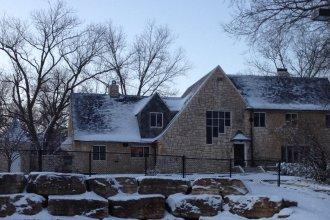 Wintertime at the Max Kade Center, adjacent to Kansas Public Radio, at the University of Kansas. (Photo by J. Schafer)
