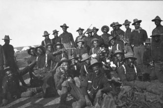 Buffalo Soldiers of the 10th Cavalry regiment, circa 1898. (Photo courtesy of the Black Archives of Mid-America)