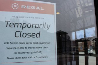 Movie theaters like this one in Wichita will be able to reopen on Friday. (Photo by Hugo Phan, KMUW)