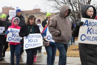 A rally at the Kansas Statehouse last year. (Photo by Daniel Caudill, Kansas News Service)