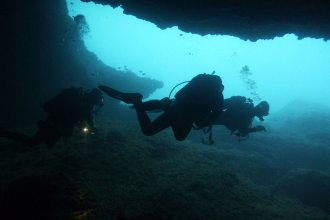 Underwater cave divers (file photo)
