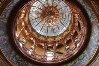 The Kansas Statehouse dome. (Photo by Celia Llopis-Jepsen, Kansas News Service)