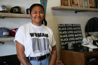 Gabrielle Griffie is a businesswoman and an organizer in Wichita. (Photo by Nomin Ujiyediin / Kansas News Service)
