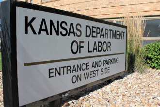 The Kansas Department of Labor building in Topeka. (Photo by Stephen Koranda, Kansas News Service)
