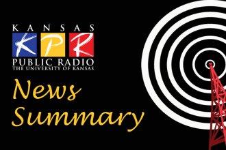 KPR News Summary image, KPR logo on black background