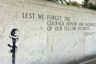 Vietnam War memorial at the University of Kansas. (Photo by J. Schafer)