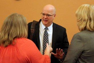 Aetna Better Health of Kansas CEO David Livingston attended the KanCare hearings this week. (Photo by Stephen Koranda)