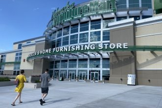 """Nebraska Furniture Mart in Kansas City, Kansas, won its appeal of its property tax bill using what's sometimes called the """"dark store theory."""" (Photo by: Carlos Moreno / KCUR)"""
