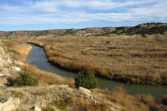 Purgatoire River in Picket Wire Canyon in Comanche National Grassland, SE Colorado. (Flickr/Chris M Morris)