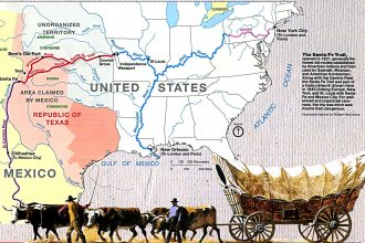 Map of the Santa Fe Trail, courtesy of the National Park Service