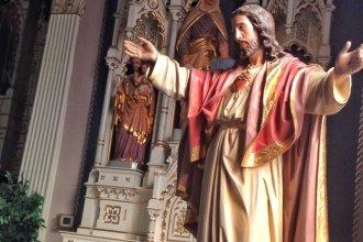 Statue of Jesus inside the Catholic church at Pilsen, Kansas, the hometown of Father Emil Kapaun. (Photo by J. Schafer)