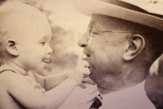 Dane G. Hansen with his nephew, Dane Gray Bales. (Photo Courtesy of Dane G. Hansen Foundation)