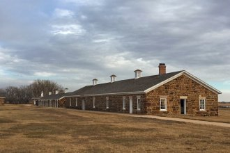 Some of the many buildings at Fort Larned, where a one time Indian agent and sheriff of Arapahoe County, Kansas Territory, was once stationed. (Photo by J. Schafer)