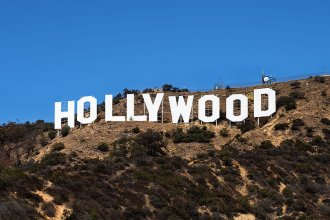 The famous Hollywood sign in Los Angeles originally spelled Hollywoodland.