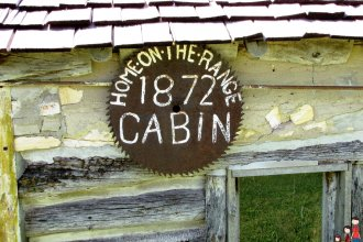 """Dr. Brewster Higley wrote a poem titled """"My Western Home"""" to describe the beauty of the site he had chosen for his Kansas Homestead in 1871. He penned this now-famous work on the bank of the West Beaver Creek in Smith County, Kansas, where along with the help of a few friends, he also constructed a cabin on July 4, 1872. (Flickr Photo by Jody Halsted)"""