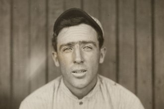 A portrait of Joe Tinker, shortstop for the Chicago Cubs, c. 1910. (Photo via Library of Congress)