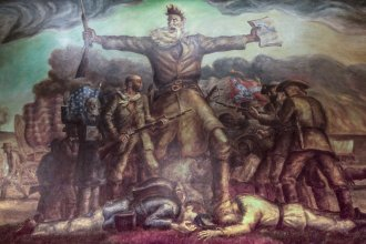"The John Brown mural, known as ""Tragic Prelude,"" at the Kansas Statehouse. (Photo by J. Schafer)"