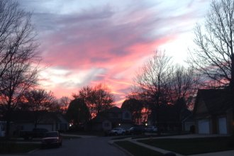 Kansas sunset as seen from Lawrence, Kansas (Photo by J. Schafer)