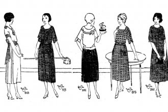 Five illustrations of house dresses by Nelly Don, used in advertisements across the USA in 1922. (Photo via Wikimedia)