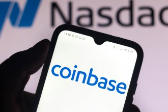 Coinbase on Wednesday became the first major cryptocurrency company to be publicly traded on the Nasdaq.