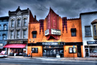 According to Guinness World Records, the Plaza Cinema in Ottawa, Kansas, is the oldest purpose-built movie theater in the world. (Photo by Jean Hutchison is used by permission. Please do not download or duplicate without her permission.  More information available at www.jhutchisonphotography.com)