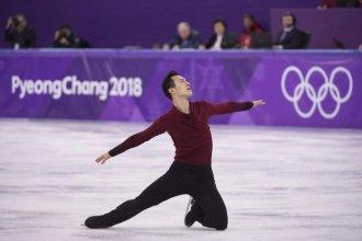 Canadian Patrick Chan, skating at the 2018 Winter Olympics in South Korea