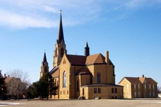Holy Cross Church in the Ellis County town of Pfeifer. (Photo Courtesy of Carol Billinger, www.germancapitalofkansas.com)