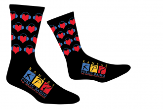 For every pledge of $120 or more, you will get a pair of these custom-designed KPR socks. Not only that, but KPR Advisory Board members will give a pair of socks to a local community shelter for each pledge at any level.