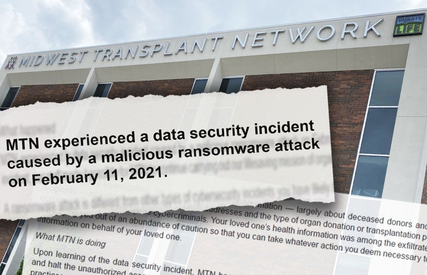 Midwest Transplant Network sent a letter to families notifying them that it suffered a ransomware attack in February. (Image by Carlos Moreno, KCUR 89.3)