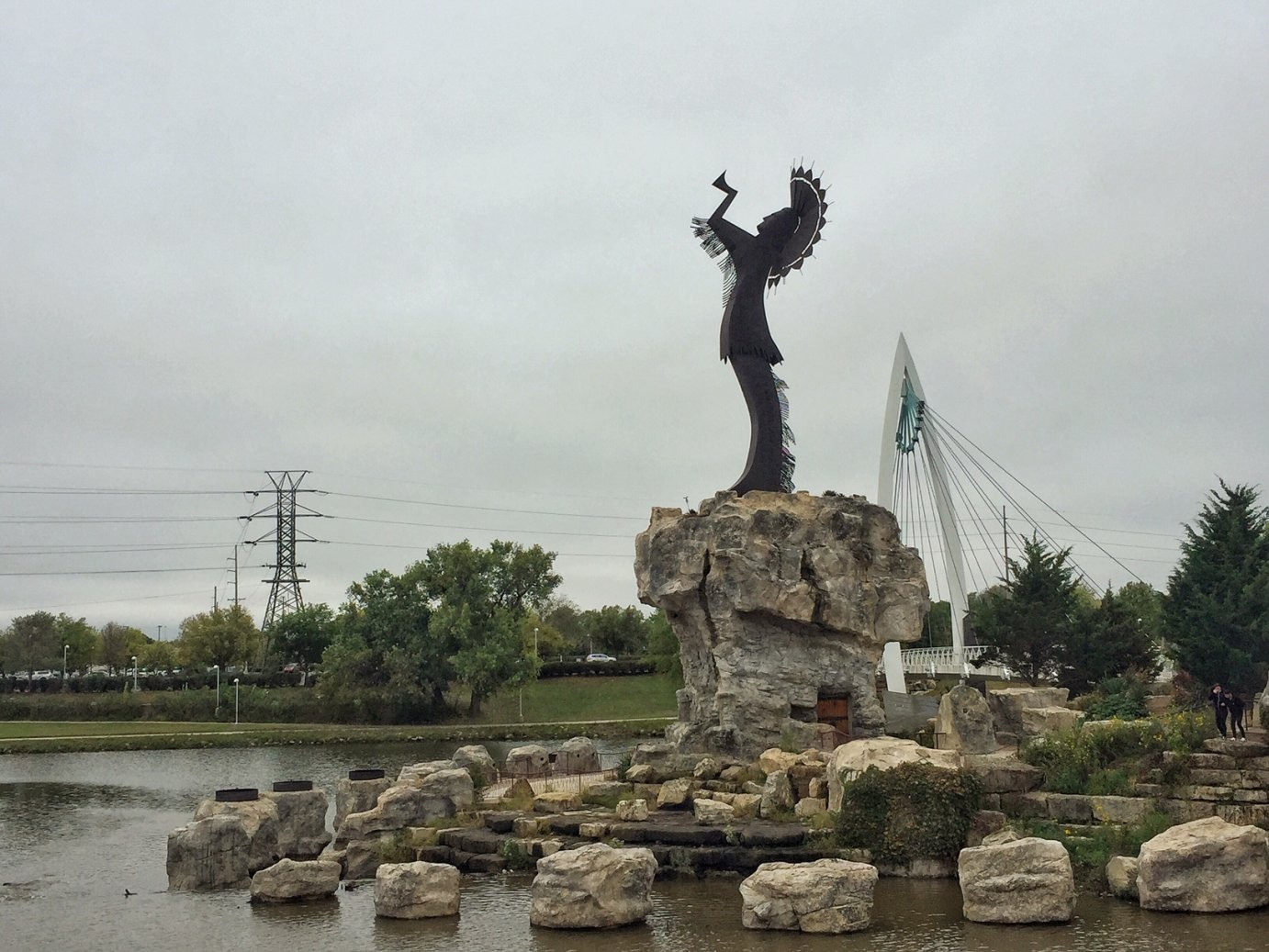 Keeper of the Plains in Wichita (Photo by J. Schafer)